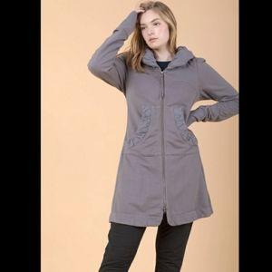 Prairie Underground Long Cloak Hoodie in Dior Gray M